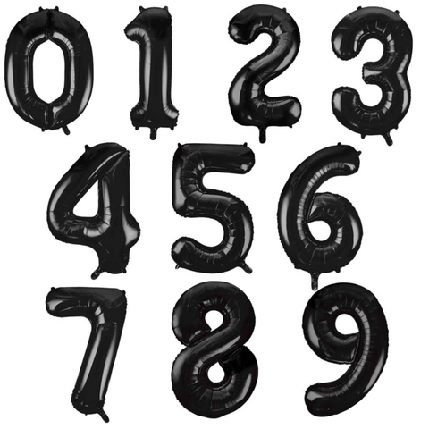 Midsize Foil Numbers - Black (66cm)