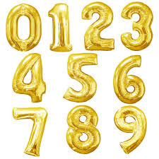 Midsize Foil Numbers - Gold (66cm)