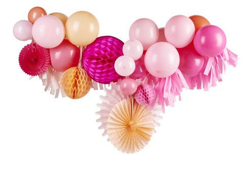 Pink Shimmer Fancy Balloon Garland