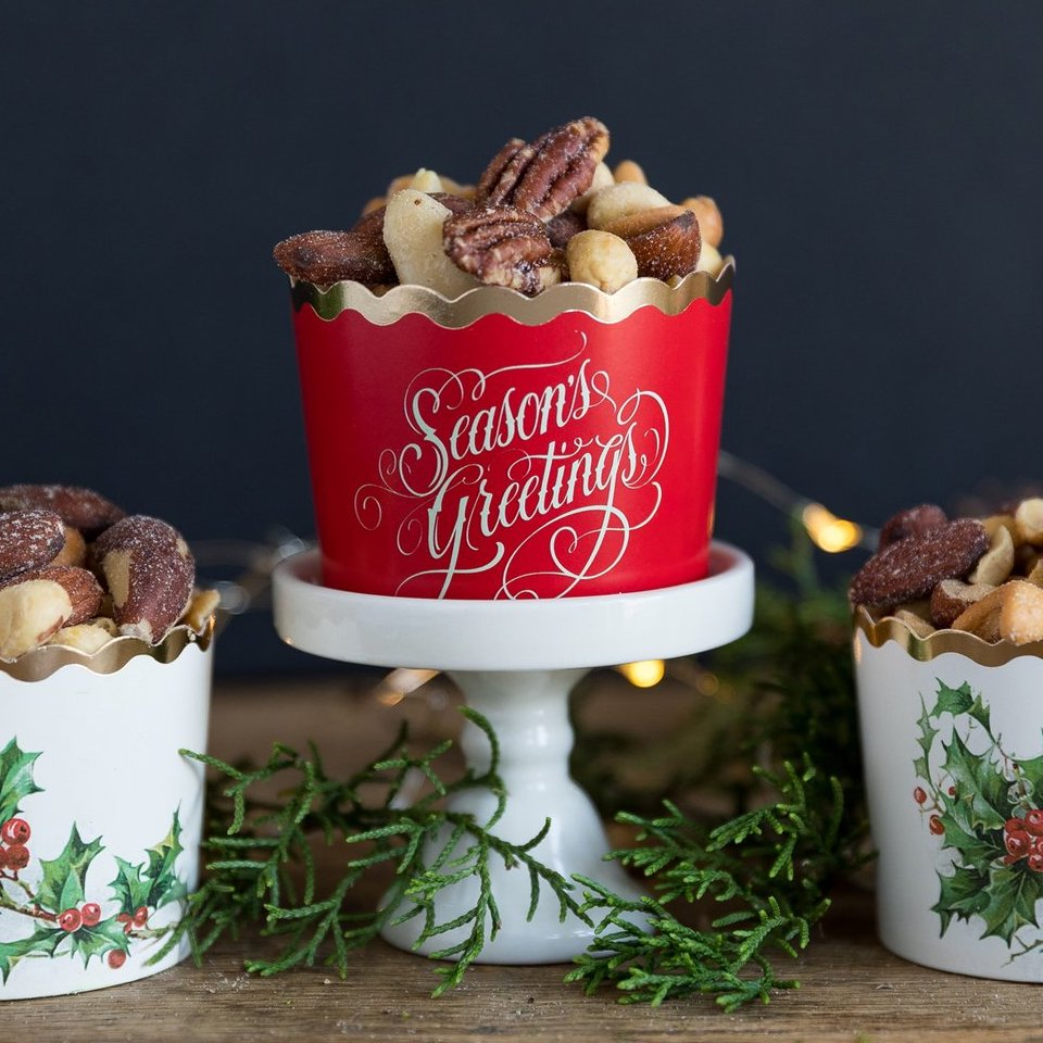 Seasons Greetings Baking Cups