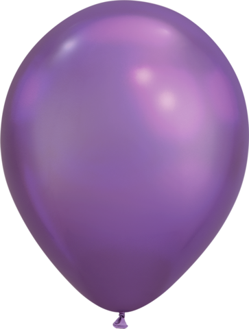 Chrome Purple Balloon