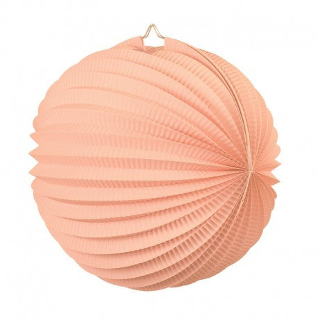 Peach Accordion Lantern 25cm