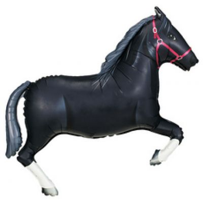 Black Horse Foil Balloon (110cm)