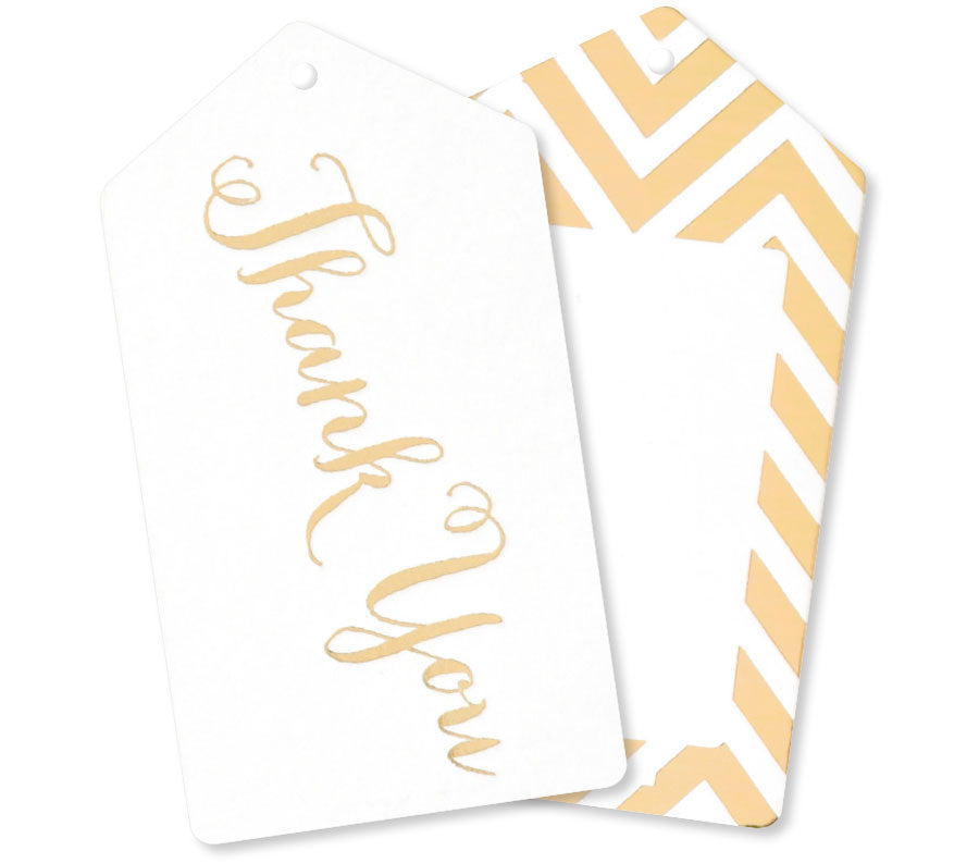 Gold Thank You Tags - Pack of 10