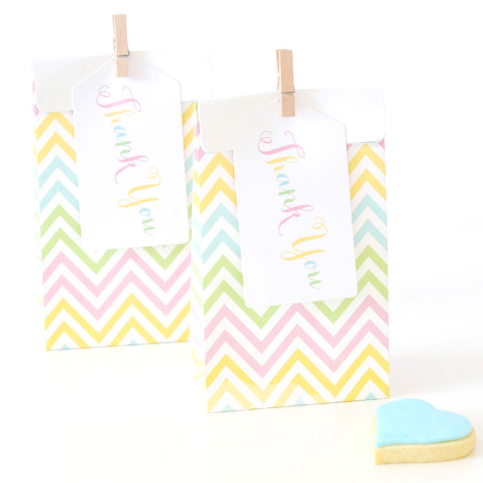 Pastel Thank You Tags - Pack of 10