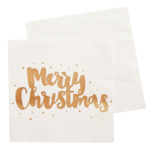 Merry Christmas Luncheon Napkin - Pack of 20