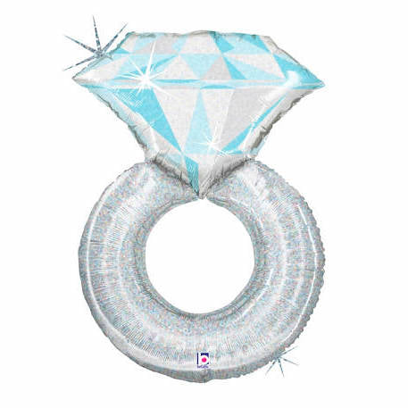 Diamond Ring Foil Balloon (96cm)