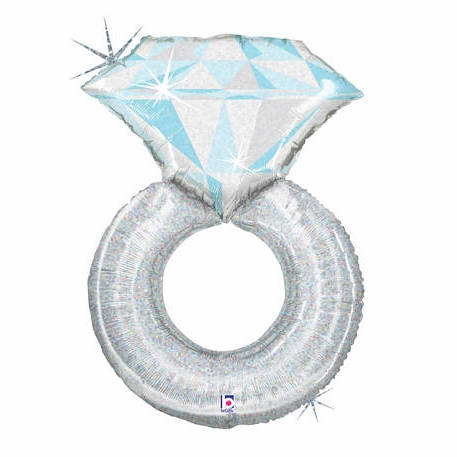 Diamond Ring Foil Balloon (98cm)