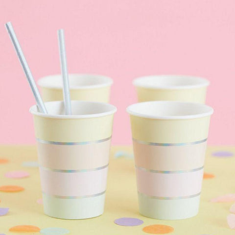 Pastel & Iridescent Rainbow Cups