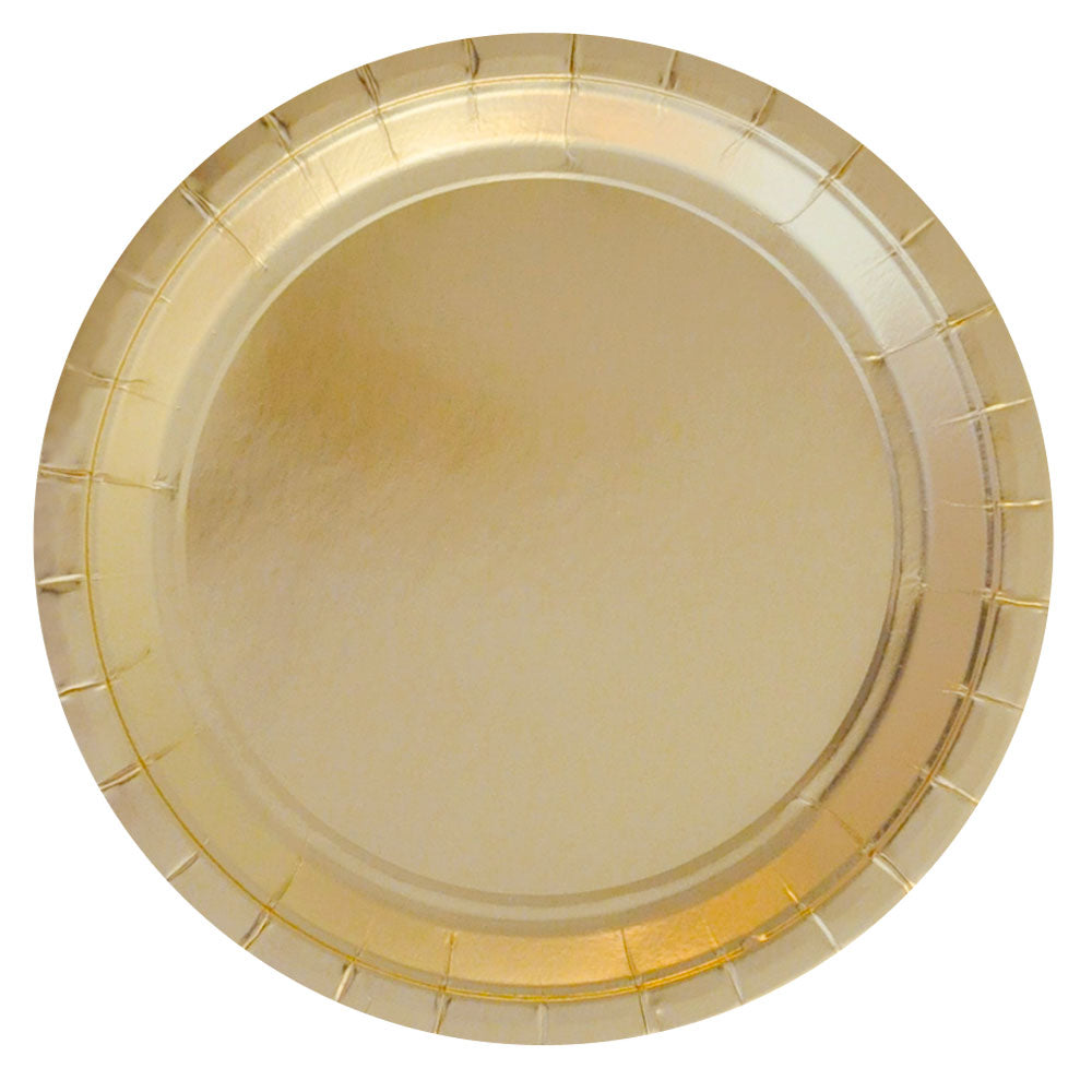 Gold Foil Large Plate - Pack of 10