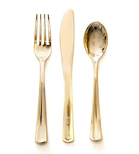 Gold Cutlery (18pack)