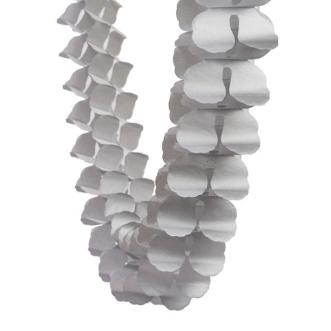 Silver Honeycomb Garland