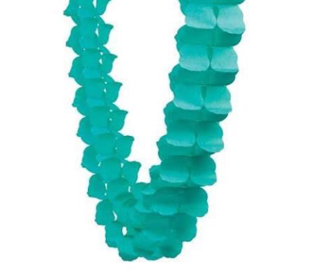 Teal Honeycomb Garland