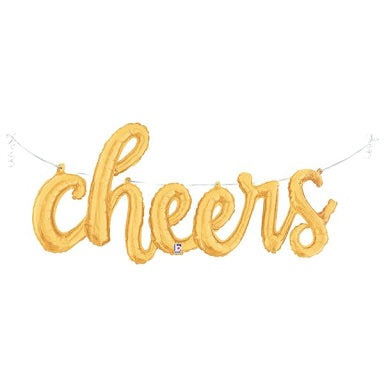 Script Cheers - Gold (44inches)