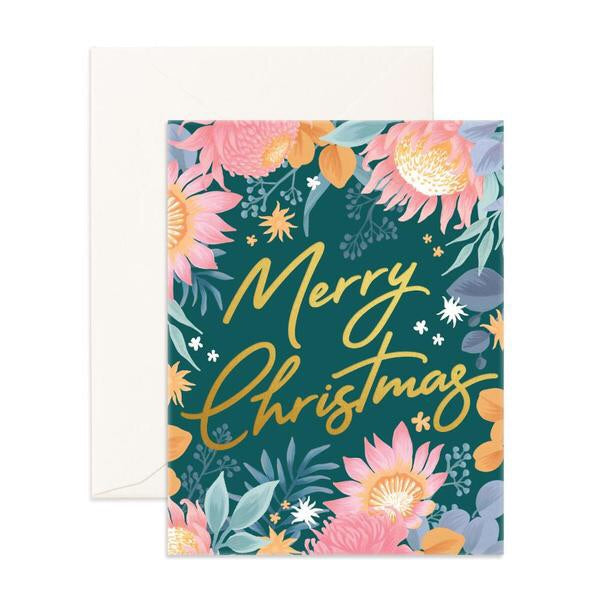 Merry Christmas Wildflower Card
