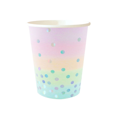Iridescent Pastel Cup - Pack of 10