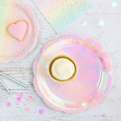 Iridescent Pastel Large Plate - Pack of 10