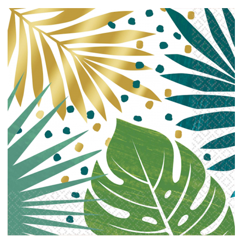 Key West Leaf Print Napkins (16pk)