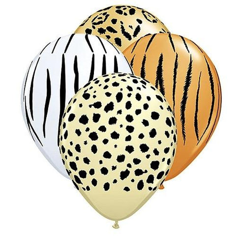 Jungle Animal Print Balloon (6pack)