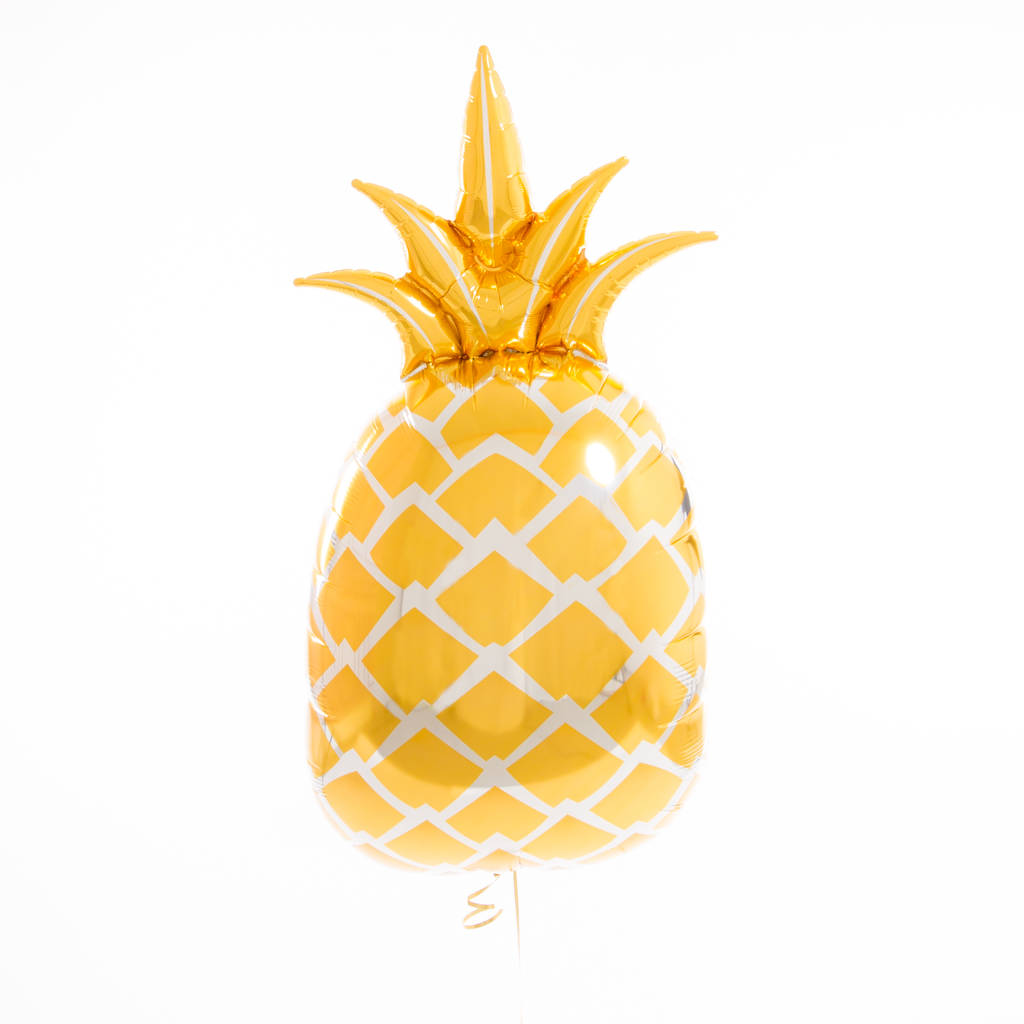 gold foil pineapple balloon