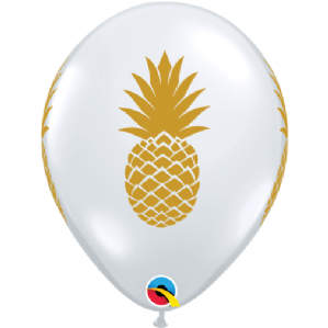 Gold Pinapple Balloon (5 Pack)