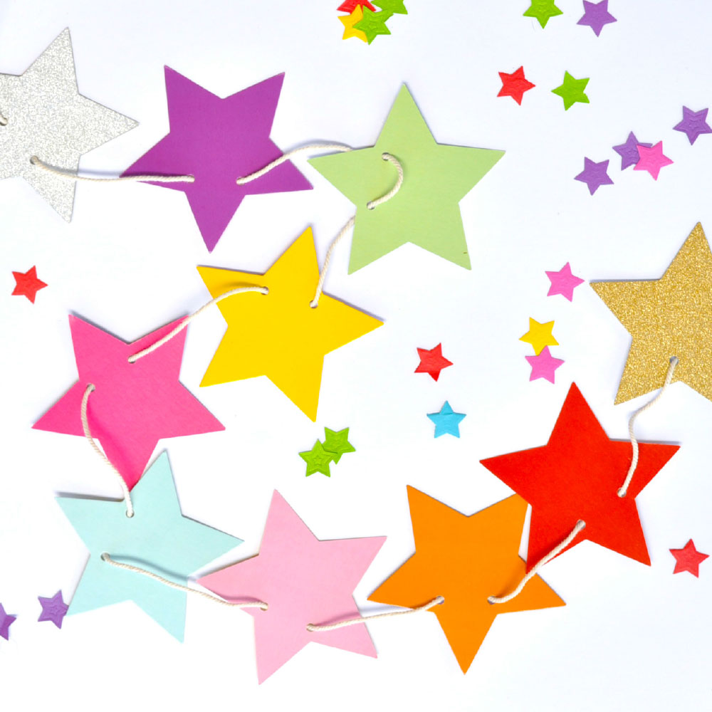 Rainbow Star Garland
