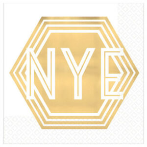 NYE Gold Foil Cocktail Napkin (16pk)