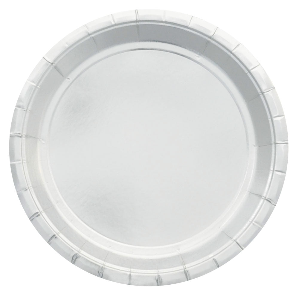 Silver Foil Large Plate - Pack of 10