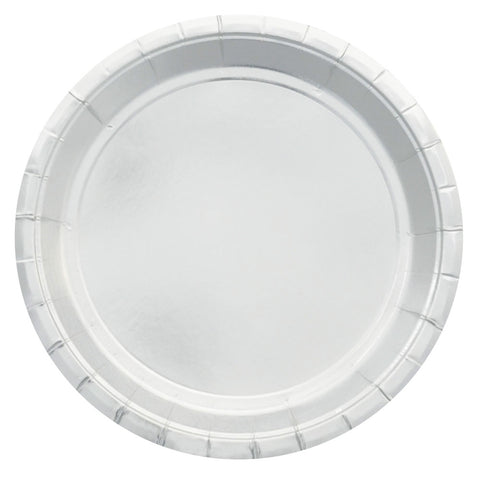 Large Silver Foil Plate - Pack of 10