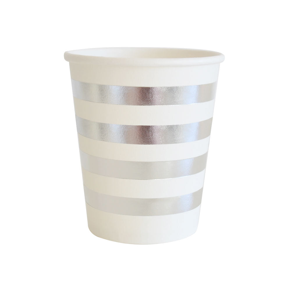 Silver Stripe Cup - Pack of 10