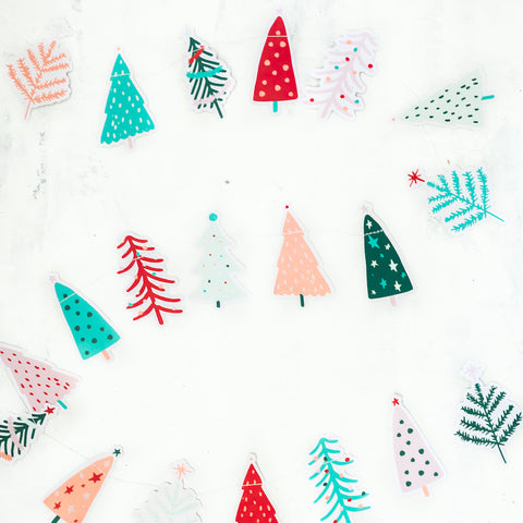 Whimsical Christmas Tree Banner