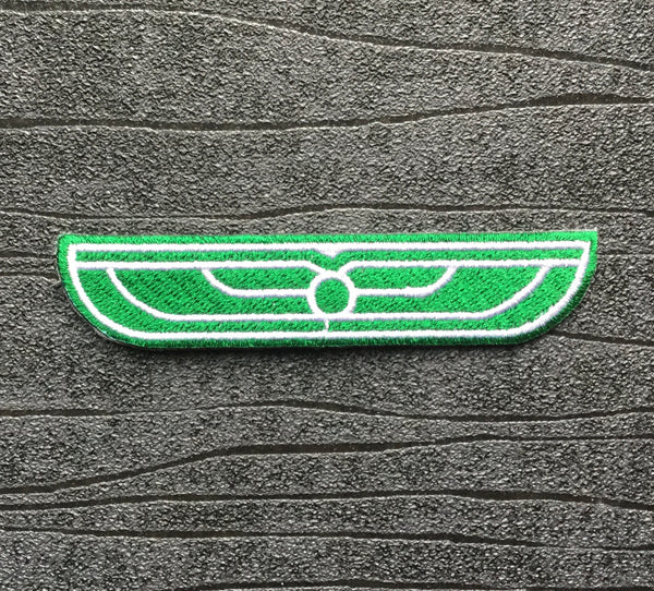 Alien USCSS Nostromo Weyland Yutani Green Wings Embroidered Iron On Patch (95mm x 20mm)