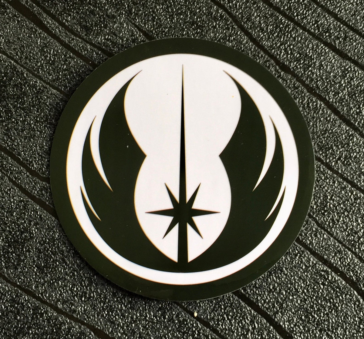 Star Wars Sticker Jedi Order Waterproof and UV resistant PVC sticker colour Black (75mm)