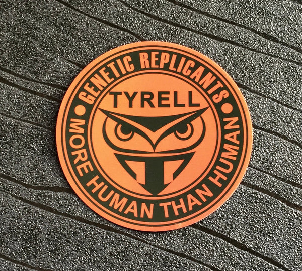 Blade Runner Sticker Tyrell Corporation Genetic Replicants Waterproof and UV resistant PVC sticker (75mm)