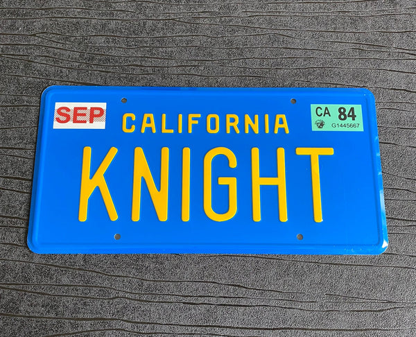Knight Rider Pontiac Firebird Trans Am prop License Plate Embossed on Aluminium 300mm x 150mm