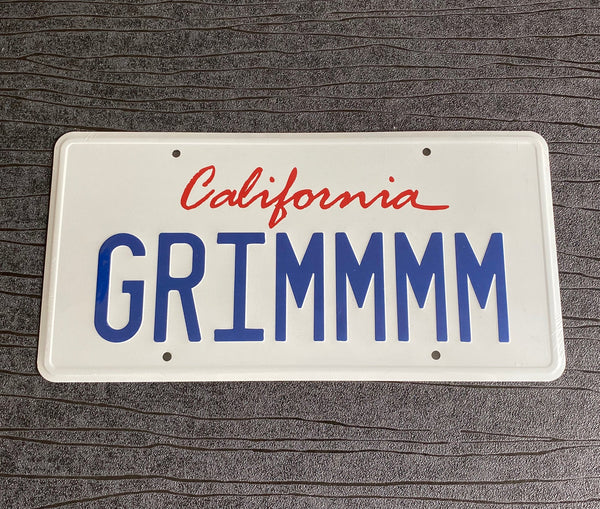 GRIMMMM Mythic Quest Ravens Banquet Ian Grimms Dodge Challenger prop License Plate Embossed on Aluminium 300mm x 150mm