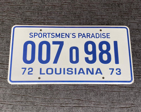 Jaws Louisiana Sportsmens Paradise prop License Plate Embossed on Aluminium 300mm x 150mm