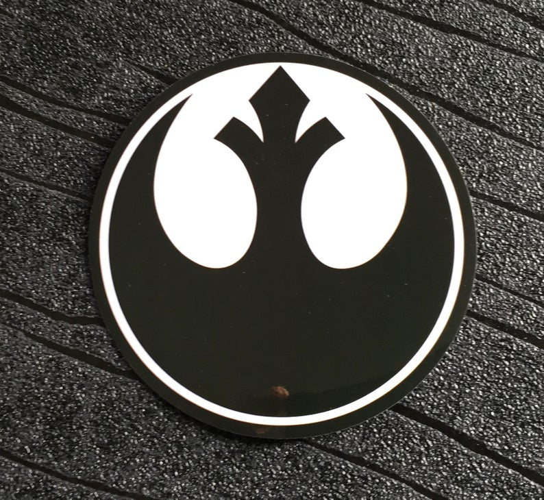 Star Wars Sticker Rebel Alliance Waterproof and UV resistant PVC sticker colour Black (75mm)