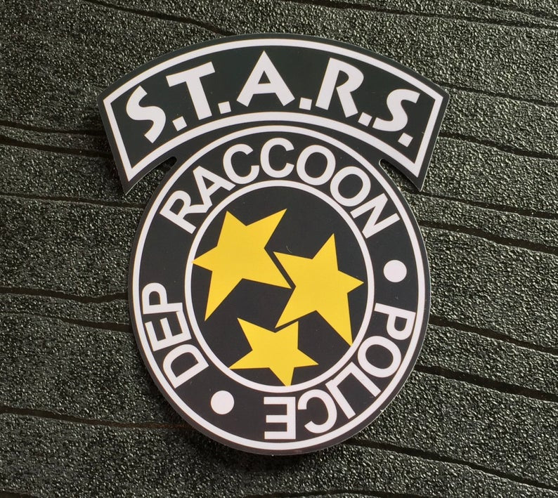 Resident Evil Sticker S.T.A.R.S. Raccoon Police Dep R.P.D. STARS Waterproof and UV resistant PVC sticker