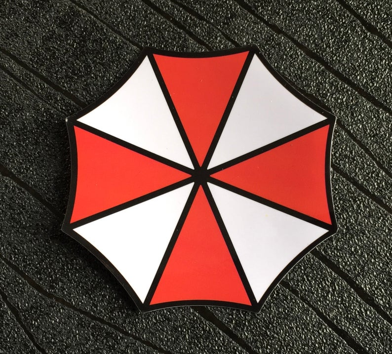 Resident Evil Sticker Umbrella Corporation Logo Waterproof and UV resistant PVC sticker