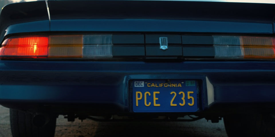 Billy Hargroves 1978 Chevy Camaro Z28 Stranger Things prop License Plate Embossed on Aluminium 300mm x 150mm