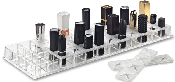 Acrylic Lipstick Organizer With Removeable Support Inserts, Fits Alex9 Drawer