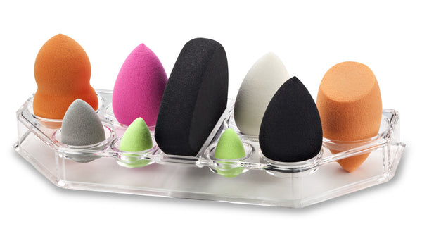 Acrylic Beauty Blending Sponge Organizer and Drying Tray; Fits All Brands