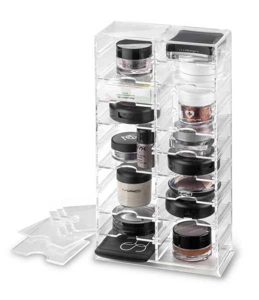 Makeup Tower Organizer Eyeshadows, Pigments, Cream Shadows (Removable Dividers), Stand Or Lay Flat