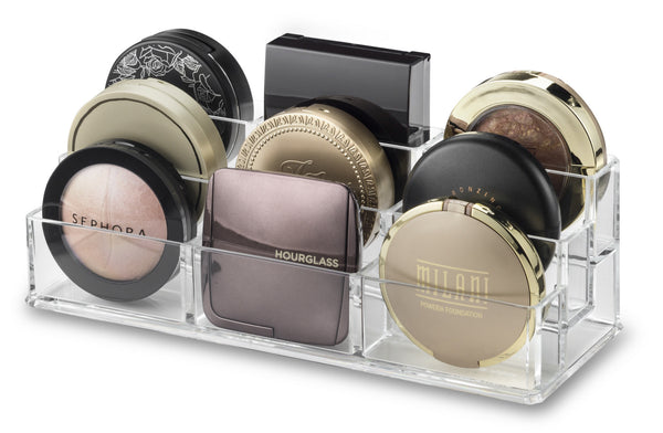 Acrylic Tiered (Blush, Bronzer, Highlighter, Powder) Compact Organizer