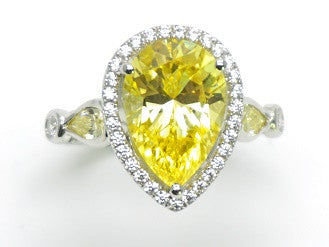 Bague Cristal Yellow : Royal