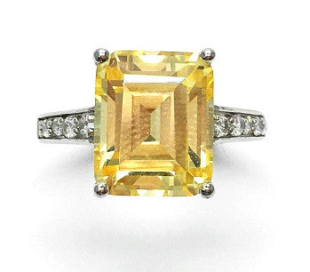 Bague Cristal Yellow : Cubic