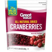 Great Value Dried Cranberries - Arándanos Deshidratados