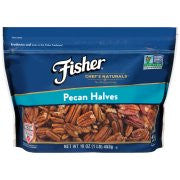 Fisher Chefs, Pecans - Nueces en mitades, 16 oz