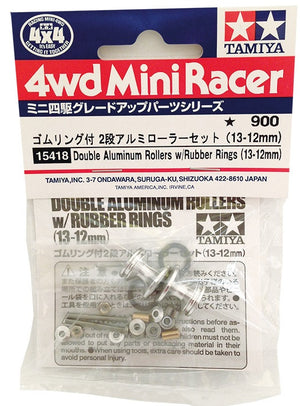 Double Aluminum Rollers w/Rubber Rings (13-12mm)